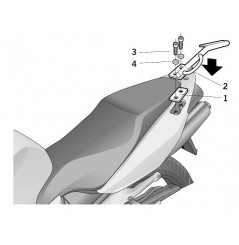 Support Top Case Shad pour VFR 800 (02-13)
