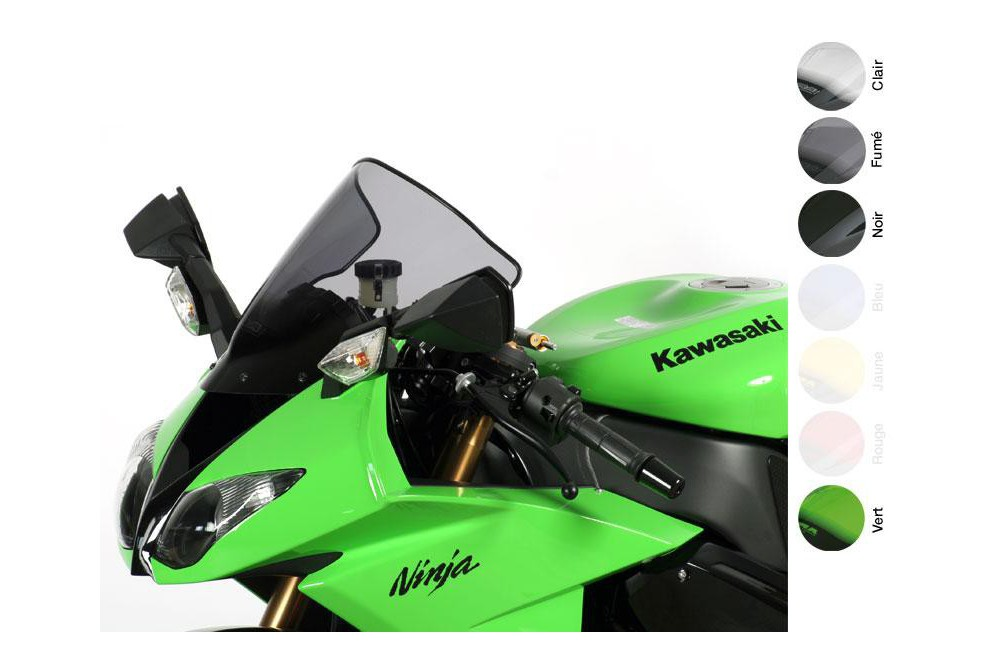 Bulle Moto MRA Type Racing +10mm pour Kawasaki ZX6R - ZX636 - ZX6RR