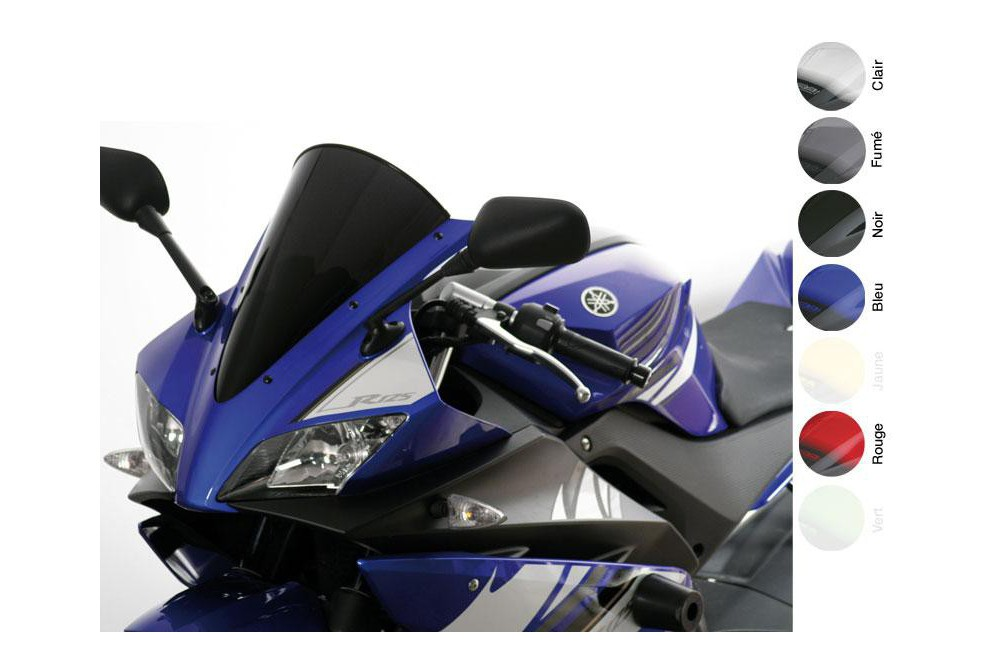 Bulle Moto MRA Type Racing +35mm pour Yamaha YZF 125 R