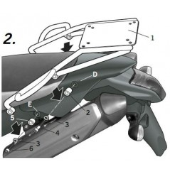 Support Top Case Shad pour XT 660 X/R (04-16)