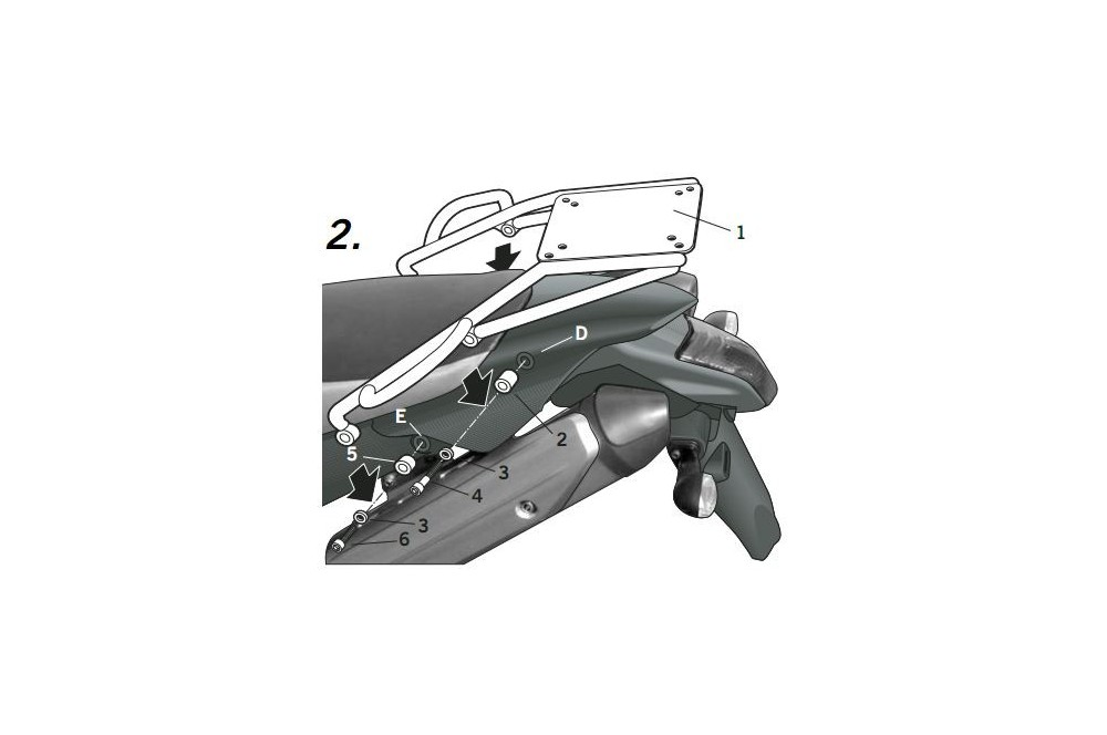 SUPPORT TOP CASE SHAD XT 660 X/R