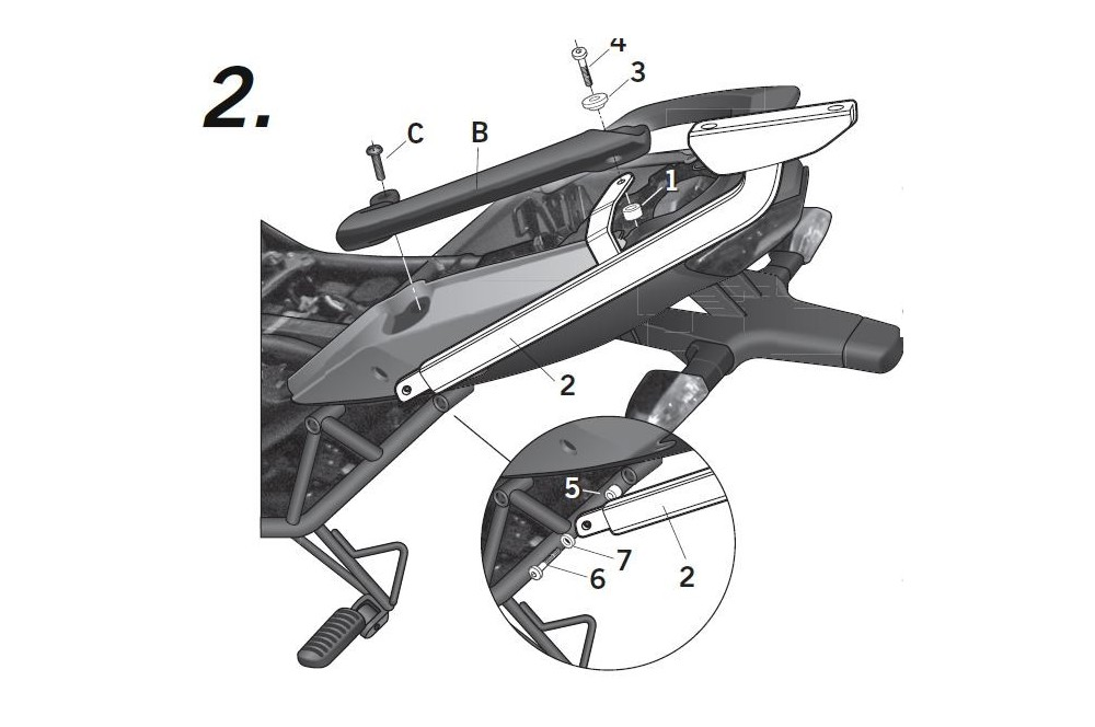 SUPPORT TOP CASE SHAD VERSYS 650 10/11