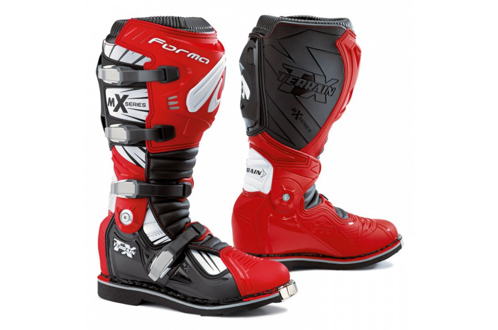 Bottes Moto Cross Forma TERRAIN TX Rouge
