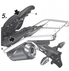 Support Top Case Shad pour Street Triple 675 (09-12)