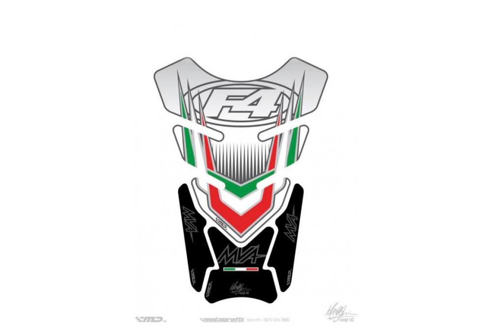 Protection de réservoir moto pour MV AGUSTA Universal Blanc