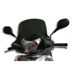 Bulle Sport fumée Scooter Malossi pour Honda SH i 300 Scoopy avant 2010