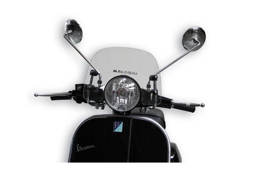 Bulle Sport Claire Scooter Malossi pour LML Star 125 - 150 - Star Deluxe 125 - 150 - Vespa Px