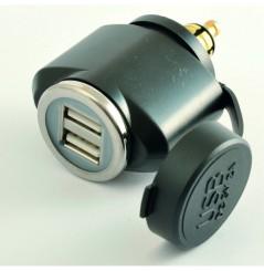 Adaptateur DIN Male Double USB Tecno Globe