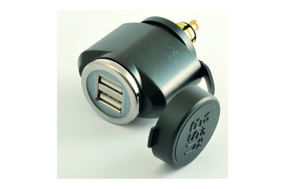 Adaptateur Allume Cigare Male Double USB Tecno Globe
