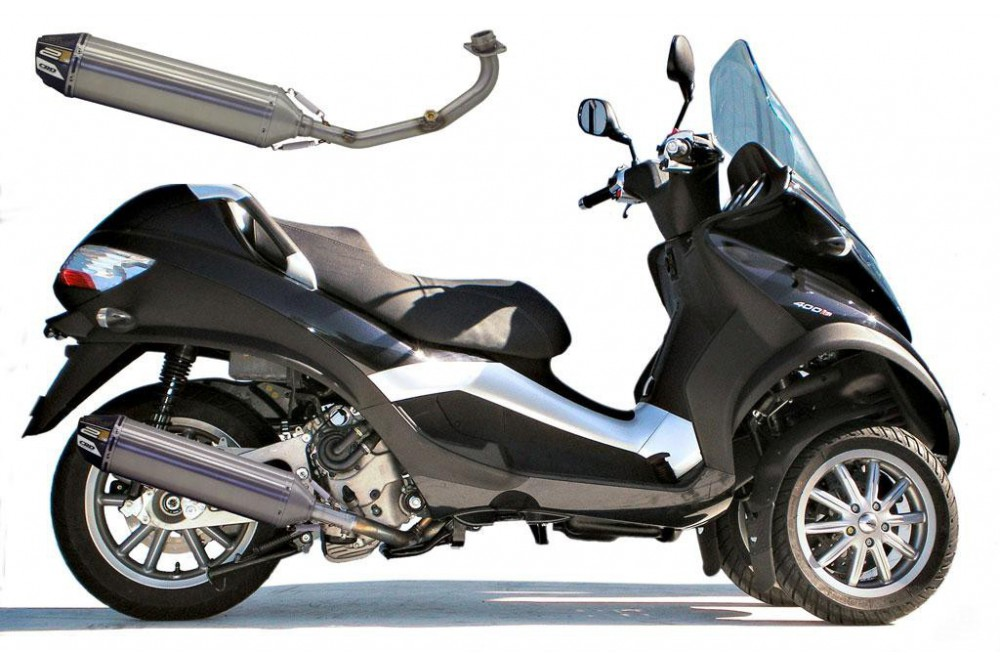 echappement scooter crd street wave 2 pour piaggio mp3 400 500 street moto piece. Black Bedroom Furniture Sets. Home Design Ideas