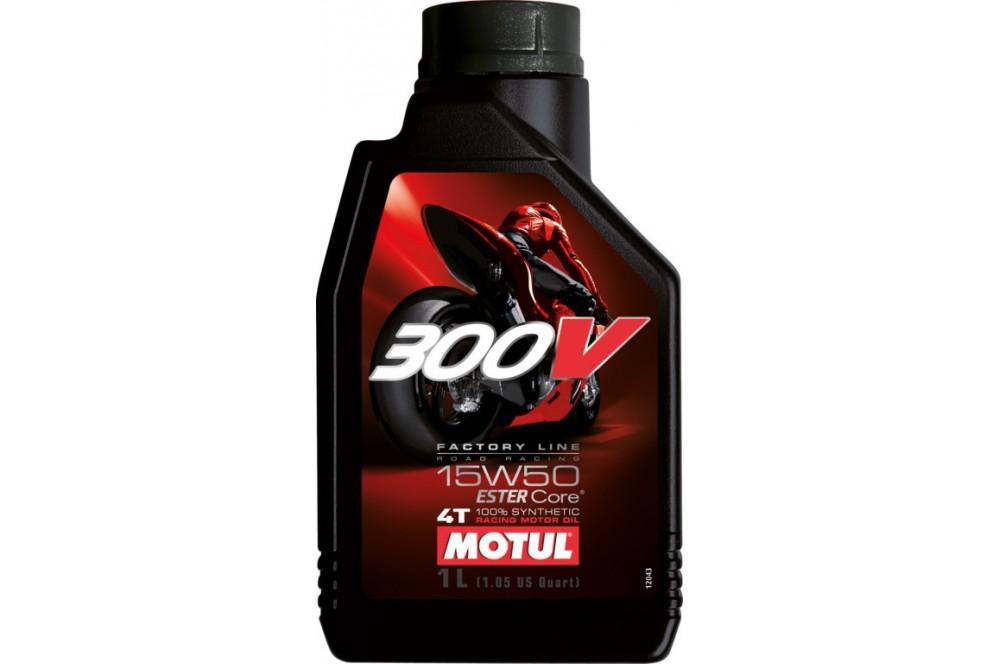 Huile moto Motul 300V Factory Line Road Racing 15W50 1 Litre