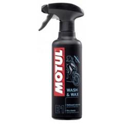 Nettoyant a sec Moto Motul WASH & WAX MC Care E1