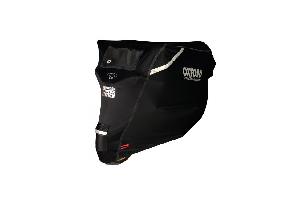 Housse Moto Oxford Stretch Protex Outdoor Noire Taille S