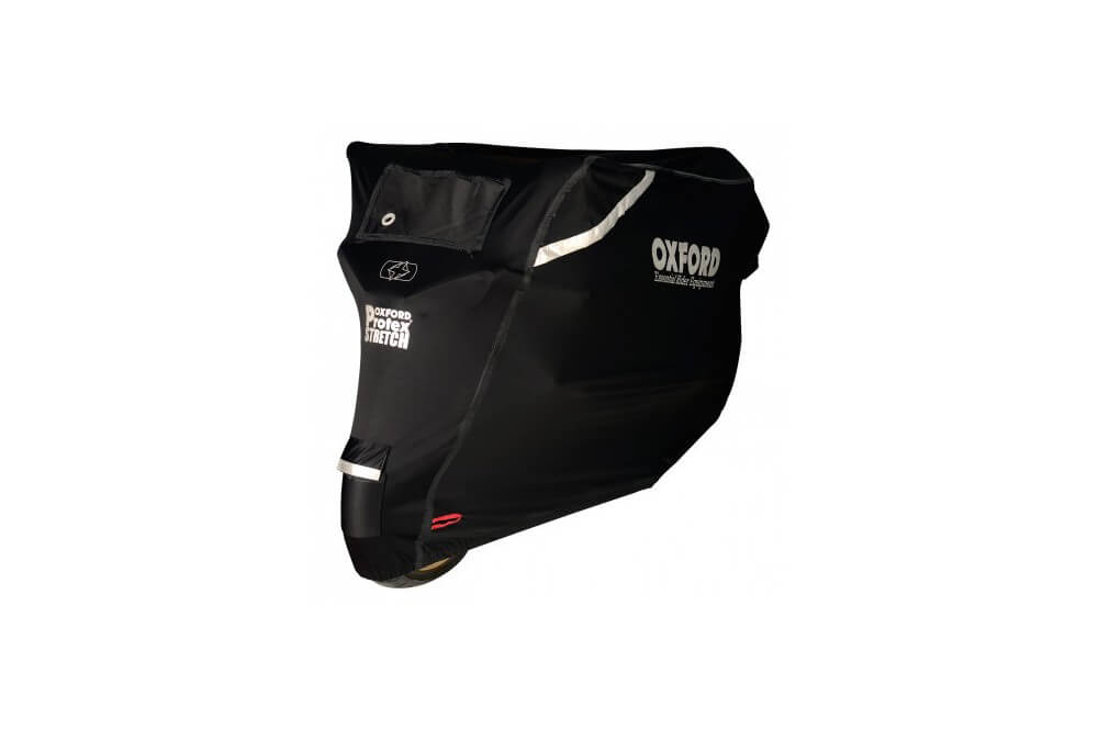Housse Moto Oxford Stretch Protex Outdoor Noire Taille L