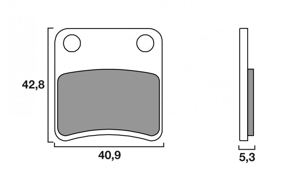 Plaquette de frein Parking Brembo 07094 CC