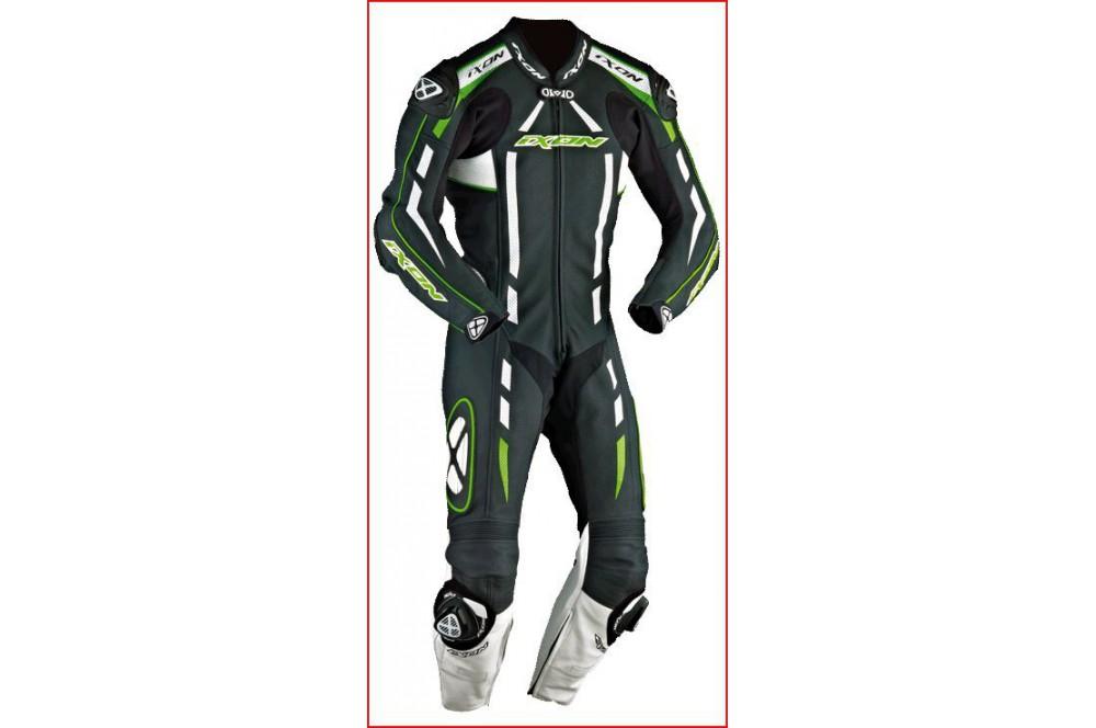 Combinaison Racing IXON PULSAR AIR Noir / Blanc / Vert