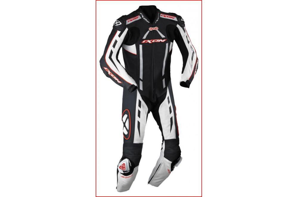Combinaison Racing IXON PULSAR AIR Noir / Blanc / Rouge