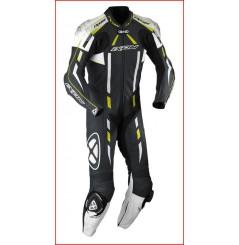Combinaison Racing IXON PULSAR AIR Noir / Blanc / Jaune