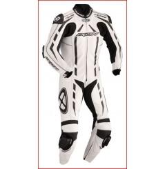 Combinaison Racing IXON PULSAR AIR Noir / Blanc / Argent