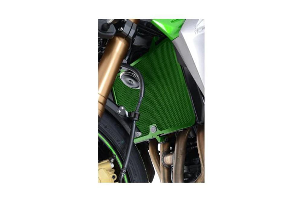 Protection de Radiateur Verte R&G pour Z750, Z800, Z1000 et SX, Versys 1000