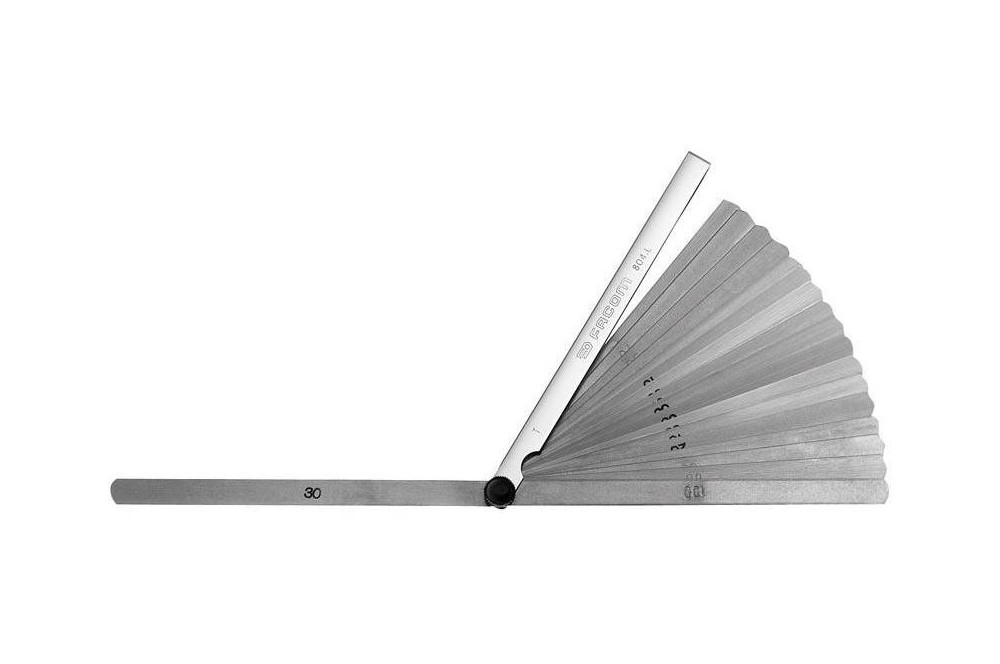 Jeu de cales - Jauges d'épaisseur 0.04 à 0.25mm Facom