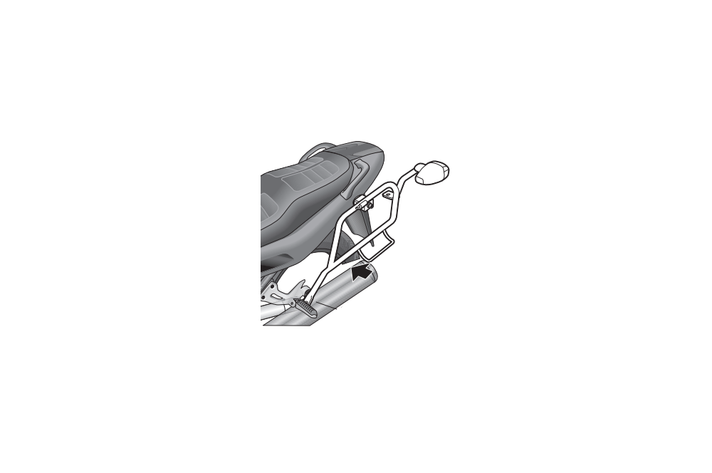 Support Valise Latéral Shad pour XJ900 Diversion 94-03