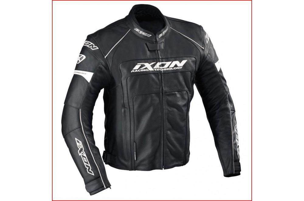 Blouson Cuir Racing Ixon Fueller Dry Noir