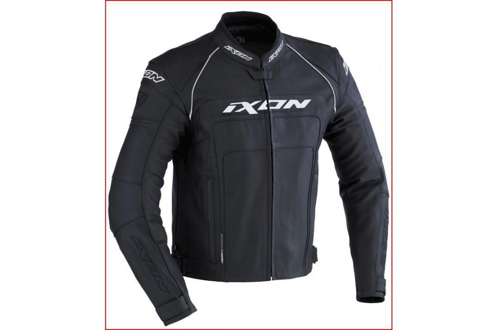 Blouson Cuir Racing Ixon Fueller Noir