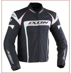 Blouson Cuir Moto Ixon FUELLER Noir - Blanc