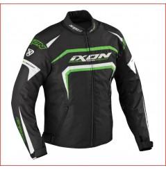 Blouson Moto Ixon EAGER Noir - Blanc - Vert