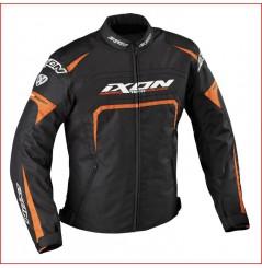 Blouson Moto Ixon EAGER Noir - Blanc - Orange