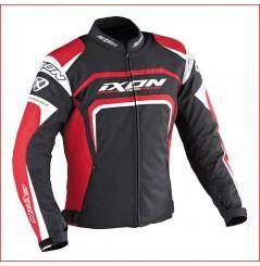 Blouson Moto Ixon EAGER Noir - Blanc - Rouge