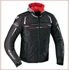 Blouson Moto Ixon DUAL Noir - Blanc - Rouge