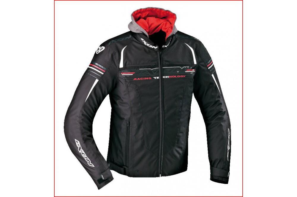 Blouson Racing Ixon Dual Noir - Blanc - Rouge