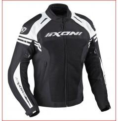 Blouson Moto Ixon MISSILE HP Noir - Blanc