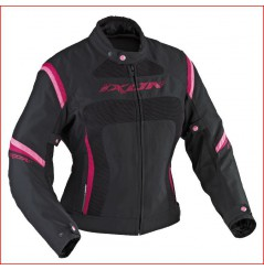 Blouson Moto Femme Ixon CELESTA VX HP Noir - Rose
