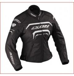 Blouson Moto Femme Ixon LOVER Noir - Blanc - Argent