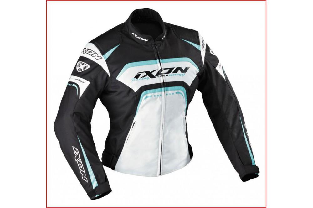 Blouson Racing Ixon Lover Noir - Blanc - Bleu