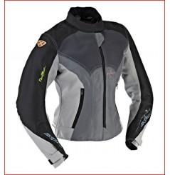 Blouson Moto Femme Ixon FLORA Noir - Gris