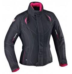 Veste Moto Femme Ixon ALHENA HP Noir - Rose
