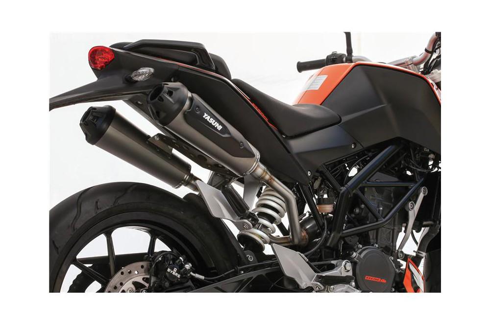 Échappement Moto Yasuni SportBike Double sortie Pour KTM Duke 125