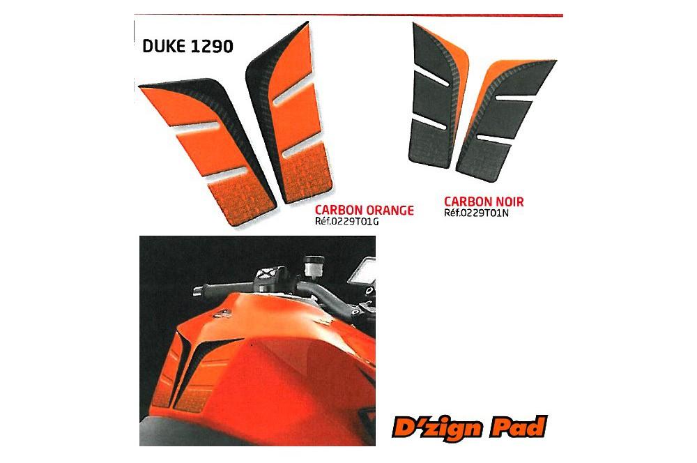 Protection de réservoir D'Zign Pad Carbon pour KTM Duke 1290