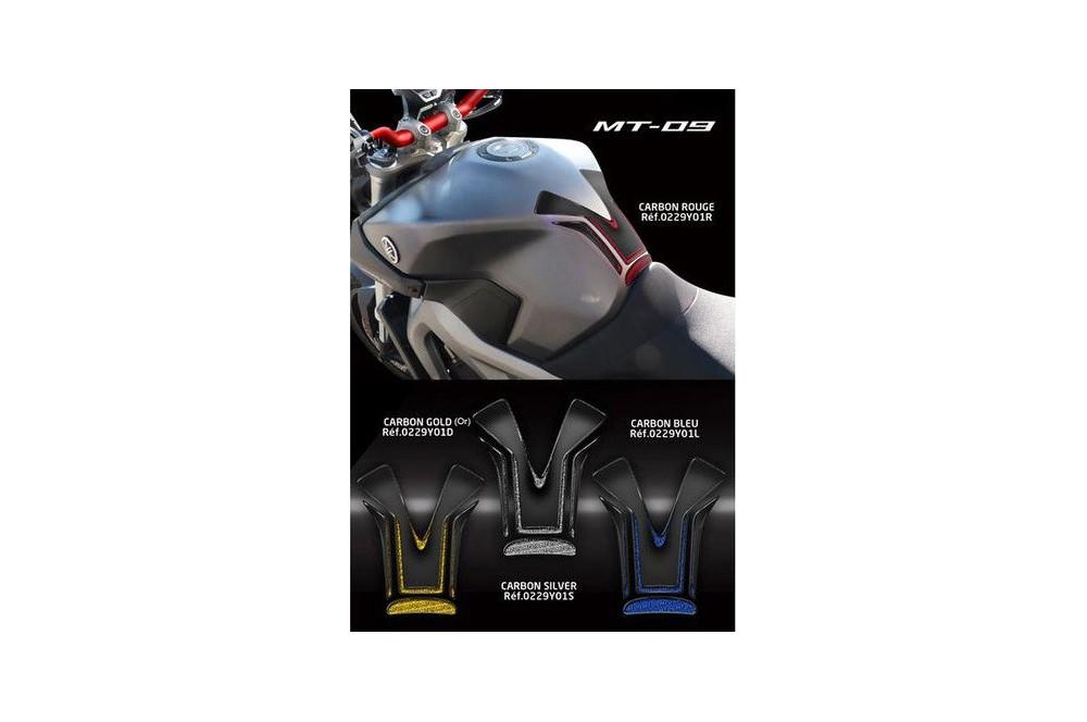 Protection de réservoir D'Zign Pad Carbon pour Yamaha MT 09 14-15