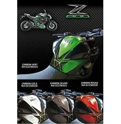 Protection de réservoir D'Zign Pad Carbon pour Kawasaki Z 800 (13-16)