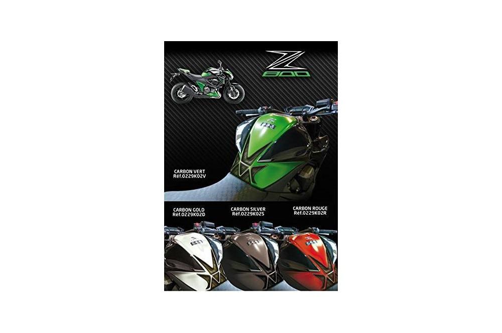Protection de réservoir D'Zign Pad Carbon pour Kawasaki Z 800 13-15