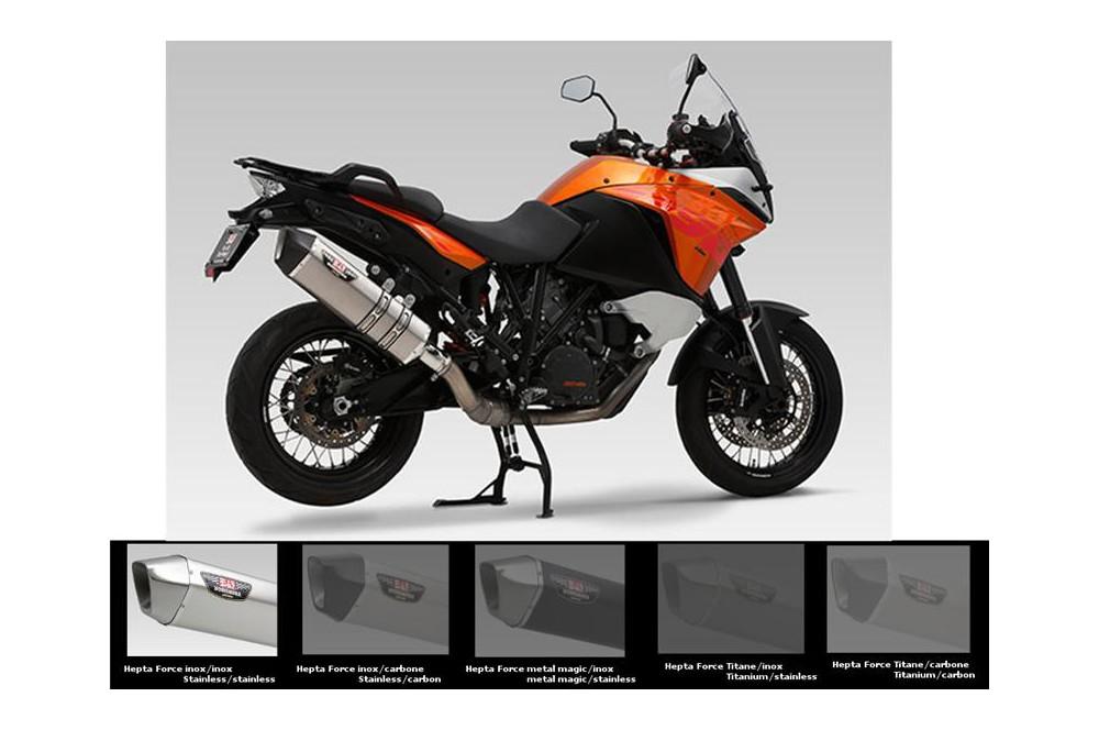 Silencieux moto Yoshimura HeptaForce pour KTM 1190 Adventure 13-15