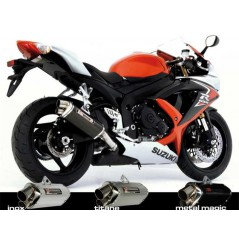Silencieux moto Yoshimura Tri-Oval 2 pour GSXR600 (08-10)
