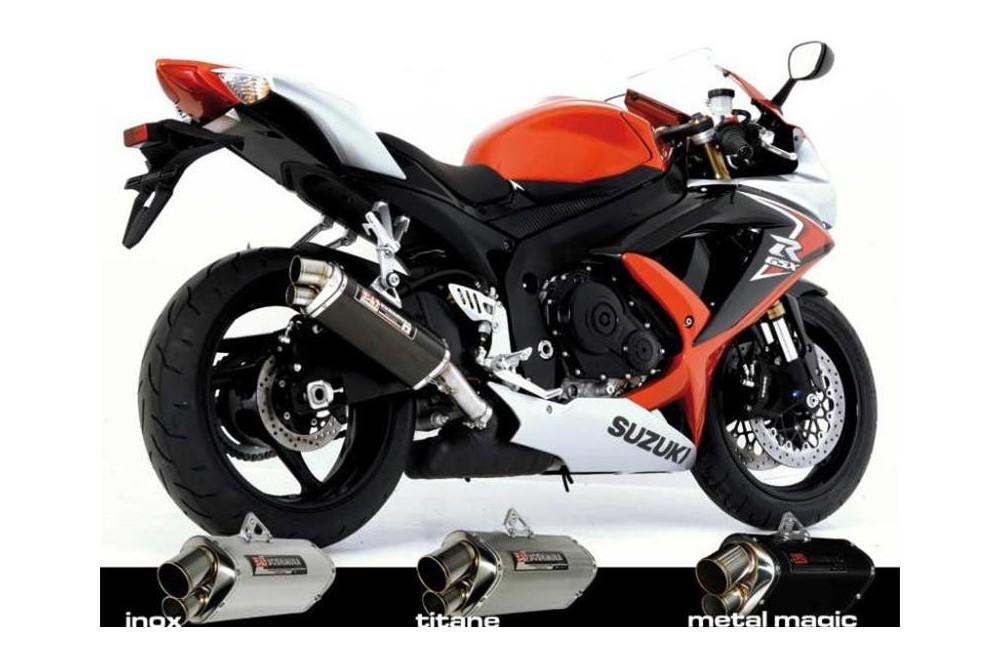 Silencieux moto Yoshimura Tri-Oval 2 pour GSXR600 08-10