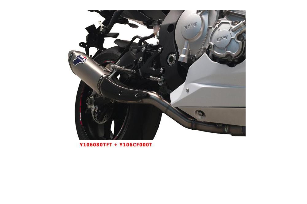 Silencieux moto Termignoni titane pour Yamaha YZF R1 et R1M