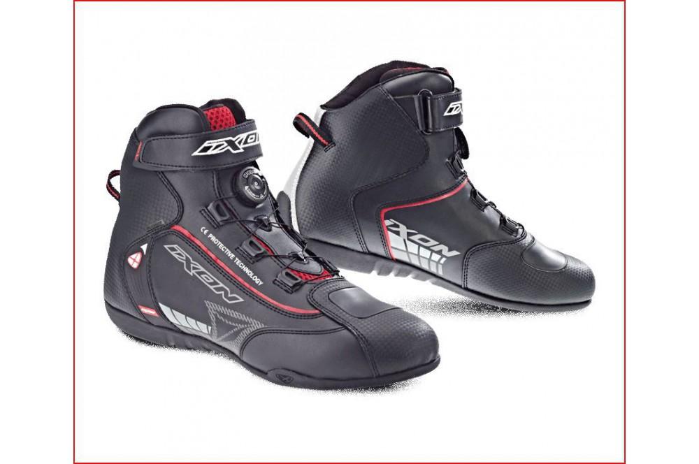 Chaussure Racing Moto Ixon Soldier Noir - Rouge